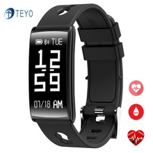 Teyo умный Браслет HM68 bluetooth сердечного ритма Мониторы Smart запястье Pulsera intelligente Водонепроницаемый smartband для iOS и Android