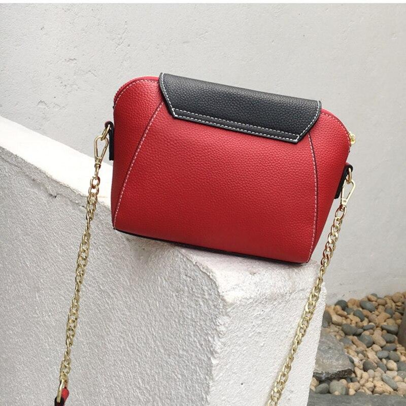 À Messenger xiangyu Téléphone Femme Cuir Black Femmes Main Shell Nouvelle Véritable Purple Mobile Chaîne red Épaule Sac Mode Femelle En dwBOZTxdq