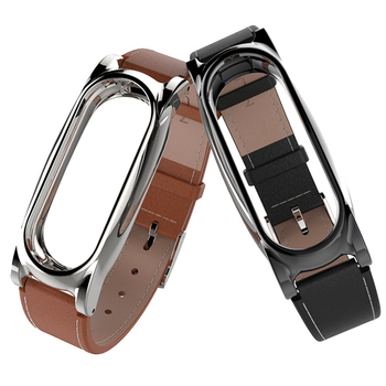 Gosear Leather Magnetic Watchband Wristband Watch Wrist Replace Strap Band for Xiaomi Xiomi Xiao Mi Band Miband 2 Band2 Bracelet