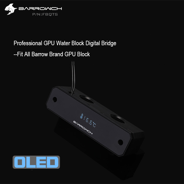 BARROW FBQTS GPU water cooling Digital displayer thermometer for computer case G1 4 GPU BLOCK refit