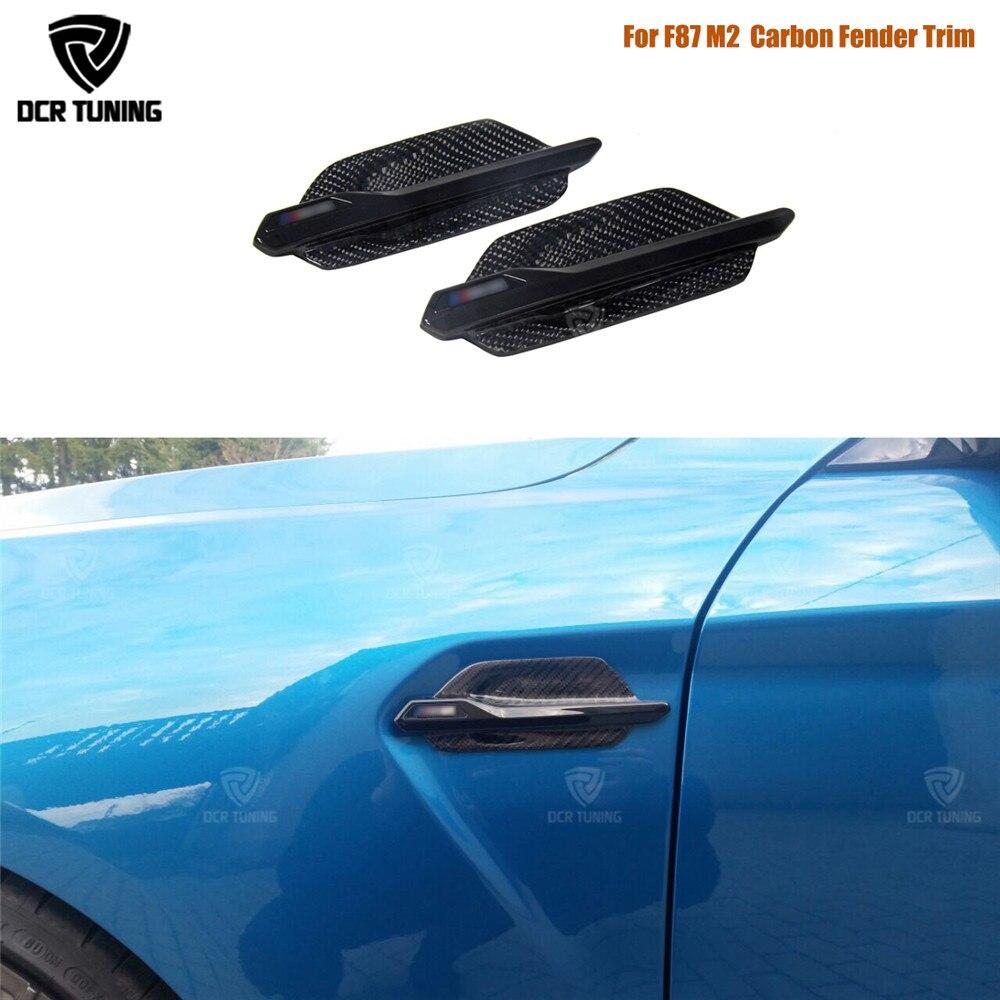 Carbon Side Grille For BMW F87 M2 Carbon Fiber Fender Trim Cover 2014 2015 2016 2017 - UPCarbon Side Grille For BMW F87 M2 Carbon Fiber Fender Trim Cover 2014 2015 2016 2017 - UP