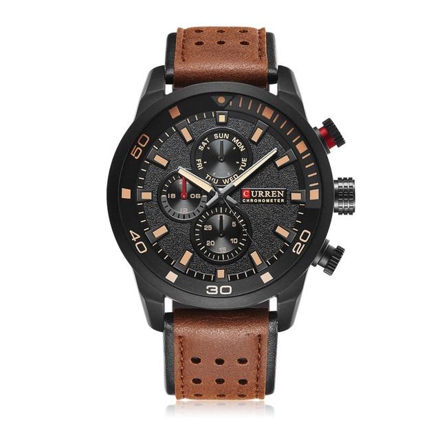 bdfea2dd82b CURREN marca top design new moda casual fresco esporte homem relógio  militar do exército de pulso