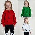 2016 Novo triângulo baby & kids camisolas Do Natal das meninas dos meninos de Malha de Algodão roupas Crianças blusas roupas crianças roupas
