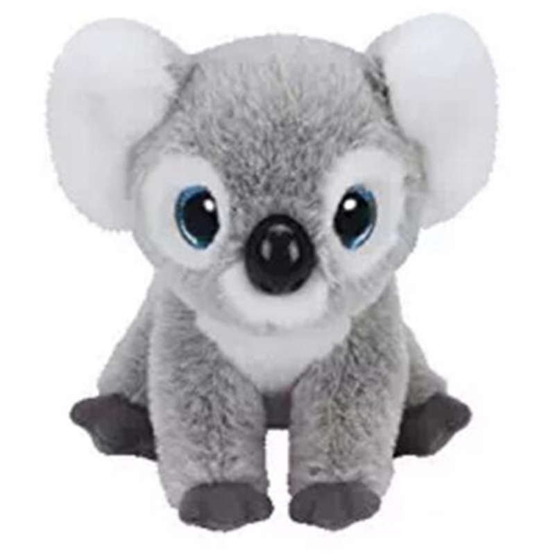 Ty Beanie Babies 6 15cm Kookoo the Koala Plush Regular Soft Stuffed Animal Collection Doll Toy stuffed animal 40cm gray koala bear plush toy soft mother