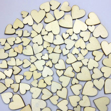 100 Uds decoración rústica de boda corazones de madera amor Vintage Decoración de mesa de boda manualidades fiesta DIY decoraciones suministros