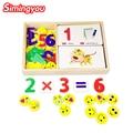 Simingyou 2017 Brinquedo de Criança De Madeira de Matemática Montessori Materiais Montessori Montessori Brinquedo Educacional De Madeira Crianças Números de Design Figura