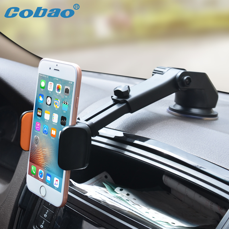 Cobao Car Phone Holder for iPhone 7 Car Windshield Mount Mobile Phone Holder Stand Support Cellular Phone Smartphone Car Holder iphone