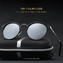 Polarized Lens Brand Sunglasses For Women Vintage Retro Design Round Male Mirror Sun Glasses Oculos de sol UV400 HDCRAFTER 2017