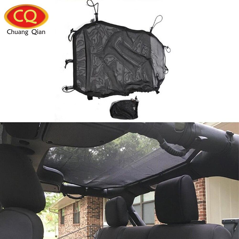 Chuang Qian Preto Eclipse Sun Sombra Comprimento Total Para 4-portas Jeep Wrangler Sahara Sport X & Ilimitado JK 2007-2018