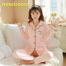 Lactation Pajamas Sets Long Sleeve Long Trousers Cotton Thin Spring Autumn Maternity Pajamas Clothes