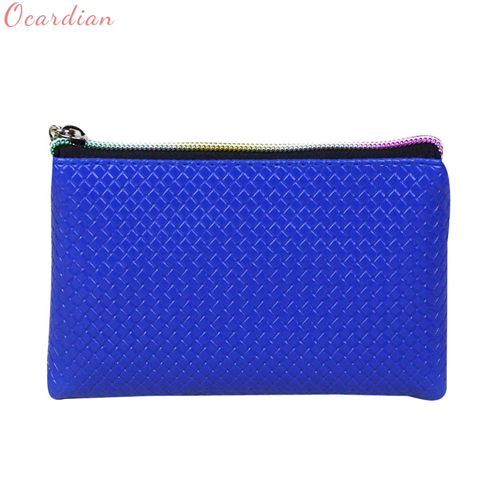 Ocardian Hot Sale Women Fashion Leather Wallet Zipper Clutch Purse Lady Long Handbag Bag Coin Purses wholesale ## hot sale women wallets fashion genuine leather women wallet knitting zipper women s wallet long women clutch purse