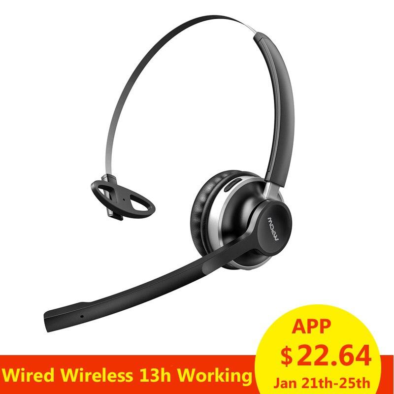Offerte Mpow HC3 Cuffie Bluetooth Dual Cancellazione del Rumore del  Microfono di Cristallo Chiaro Wireless e Wired Cuffie Per PC Laptop  Chiamata centro ... 08a2270004b3