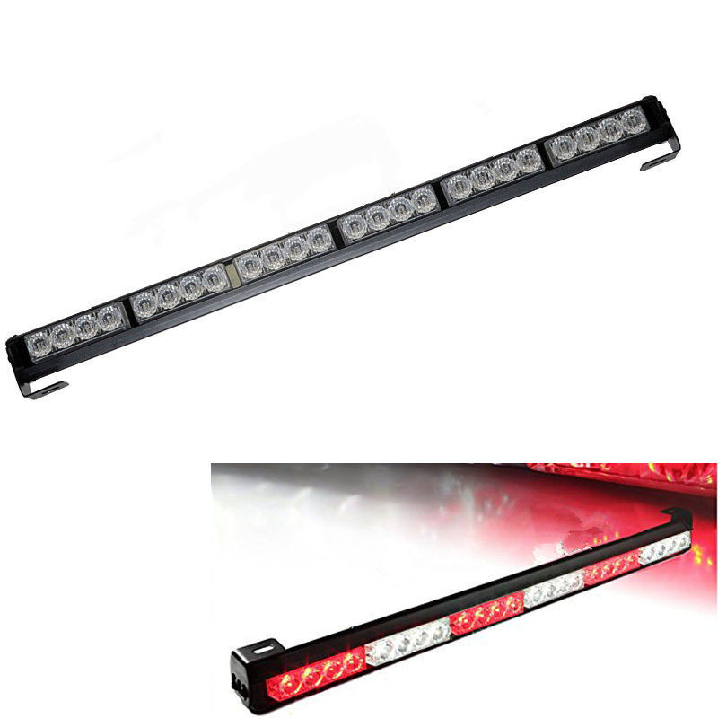 27 Inch High Power 24 LED Emergency Warning Vehicle Strobe Light Bar  Kit(China (