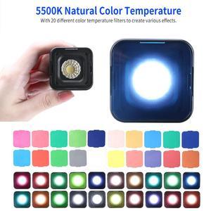 Image 2 - Ulanzi L1 Pro Impermeabile Dimmer HA CONDOTTO LA Luce Video 5600K w 20 Filtri di Colore Ha Condotto La Lampada per Drone DJI Osmo tasca Gopro 7 Fotocamere REFLEX Digitali