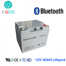 12V 30AH Lifepo4 Battery Pack Deep 2000 Cycle 3.2V Lithium Iron Phosphate Rechargeable Cell Bluetooth BMS Customized 4S AKKU