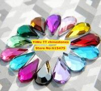 10,000 sztuk/worek 4*6mm Mieszkanie Powrót Tear Drop Kształt Cyrkonie Akrylowe, Akryl Plastikowe 3D Nail Art/odzieży/Biżuteria Rhinestone
