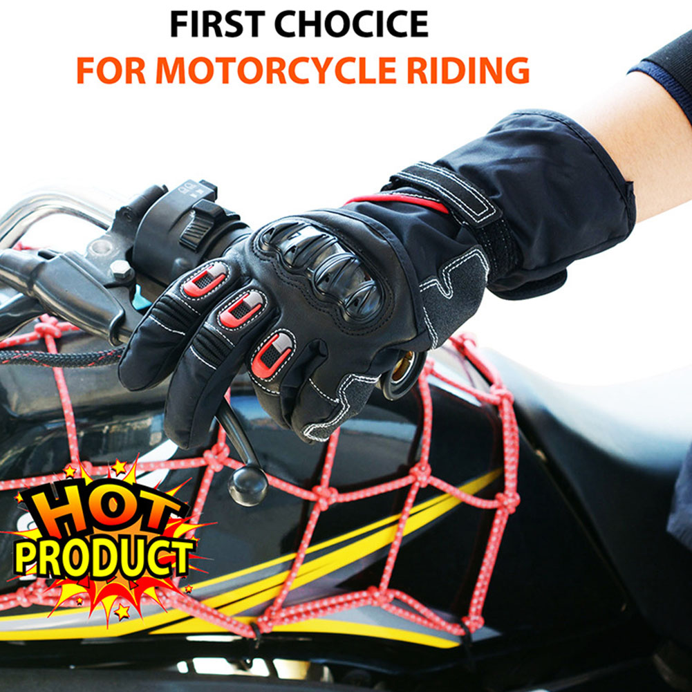 Touching Screen Warm Non-Slip Leather Motorcycle Windproof Riding Downhill OffRoad Waterproof Wear Resistant Full Finger
