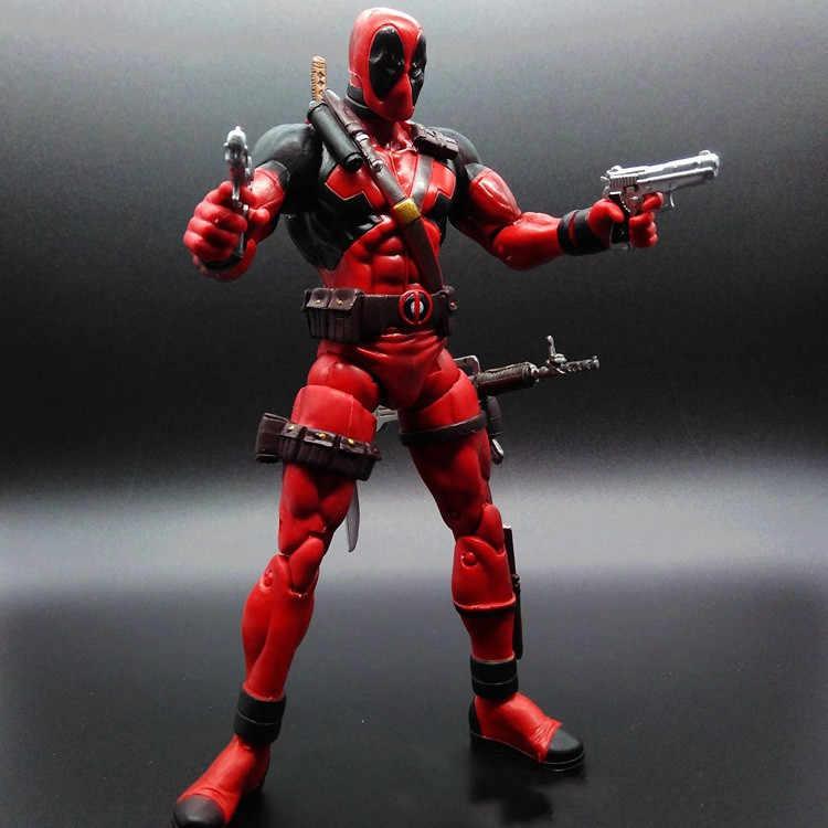 Nova Fashional 18 cm Deadpool Super herói Deadpool Q versão solto figuras de ação PVC boneca Action Figure brinquedos presente para as crianças
