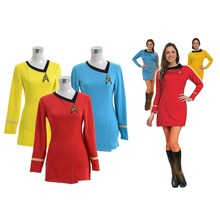 Custom Made Women's Colorful Dress Star Trek Dress Costume Female Duty Uniform Multiple Colors Version Women's Spring Dress