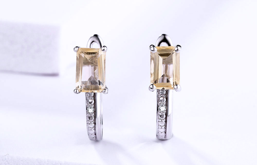 silver citrine diamond earrings CASE06156SC-1 (5)