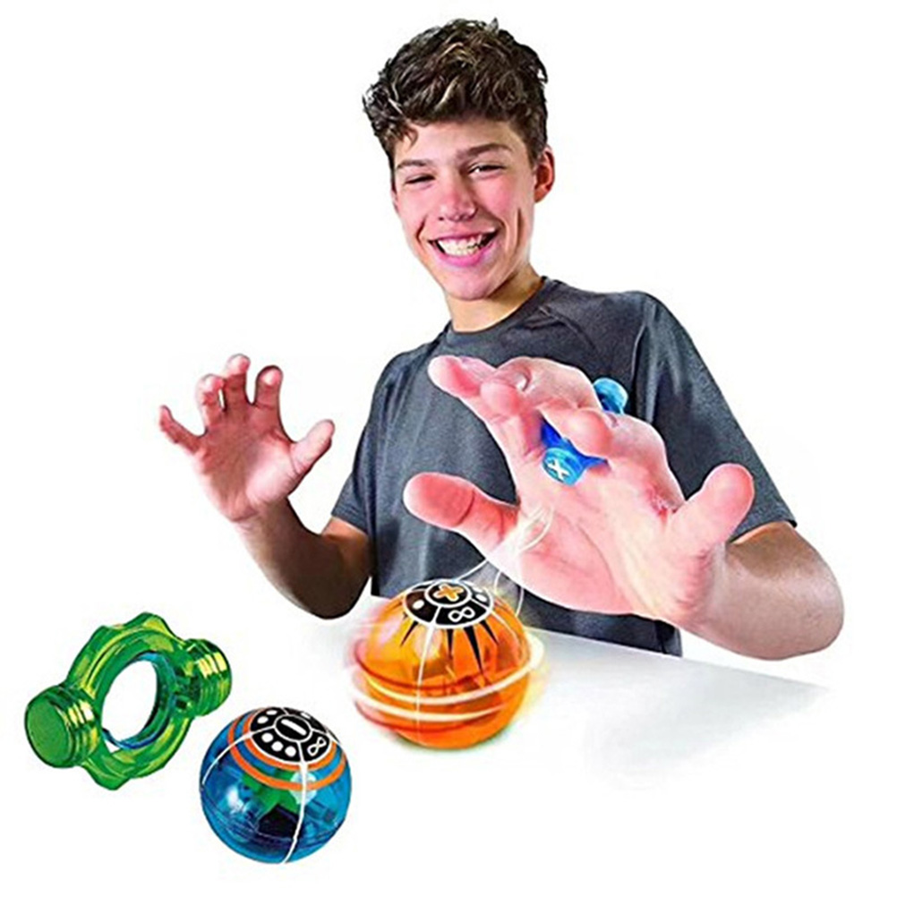Electronic Magnetic Balls Toy Stress Relief Colorful Magnetic Toys Controlled Finger Induction With Power Ring Toys For Children