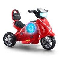 Детский Электрический мотоцикл детские игрушки для катания Электрический трицикл баланс автомобиля дети Батарея литые игрушечные машинки