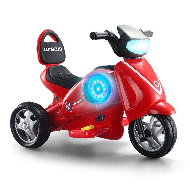 Enfants moto électrique bébé Ride sur jouets Tricycle électrique Balance voiture enfants batterie moulé sous pression jouets véhicules brillent dans l'obscurité