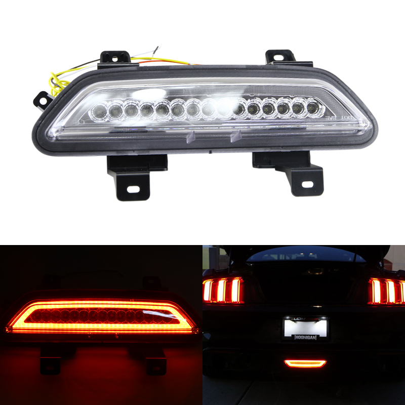 Clear Lens All-in-One Led Backup Reverse Lamp Rear Fog Light Assembly For Ford Mustang 2015-Up Car-Styling Car Lights