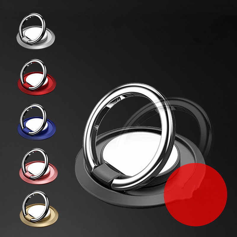 1Pcs Round Multi-Function Car Phone Holder Ring Buckle Mobile Phone Case Bracket Smartphone & Tablet Ring Holder