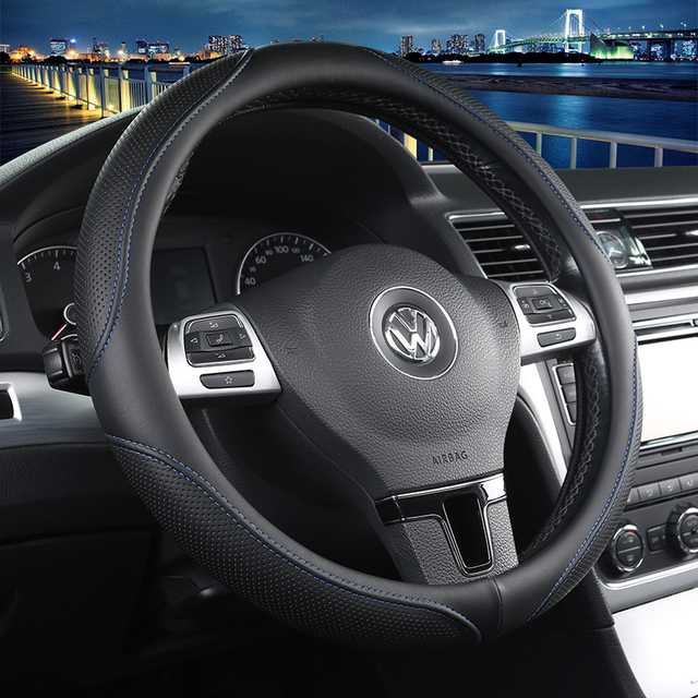 2017 free shipping car steering wheel cover for volkswagen. Black Bedroom Furniture Sets. Home Design Ideas