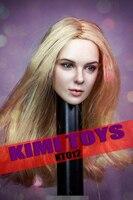 Pre order 1:6 Scale Female Head Black Widow Carved KIMI TOYS KT012 1/6 European American Female Headsculpt Girl Head Model