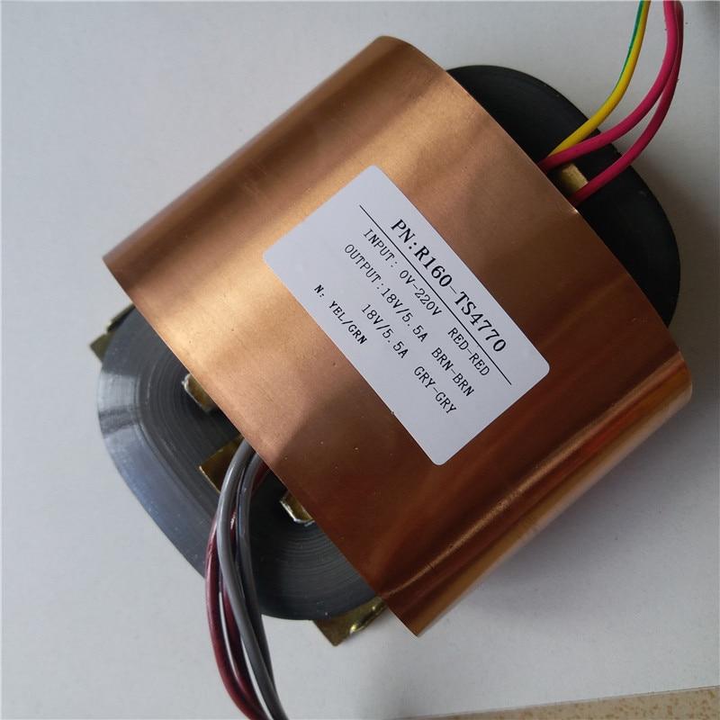 18V 5.5A 18V 5.5A R Core Transformer 200VA R160 custom transformer 220V copper shield Power amplifier r core transformer copper custom transformer 220vac 200va 2 26ac 3 5a 2 15v 0 6a with shield output for power amplifier