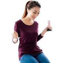 Long Sleeve Maternity Nursing Tops / T-Shirts