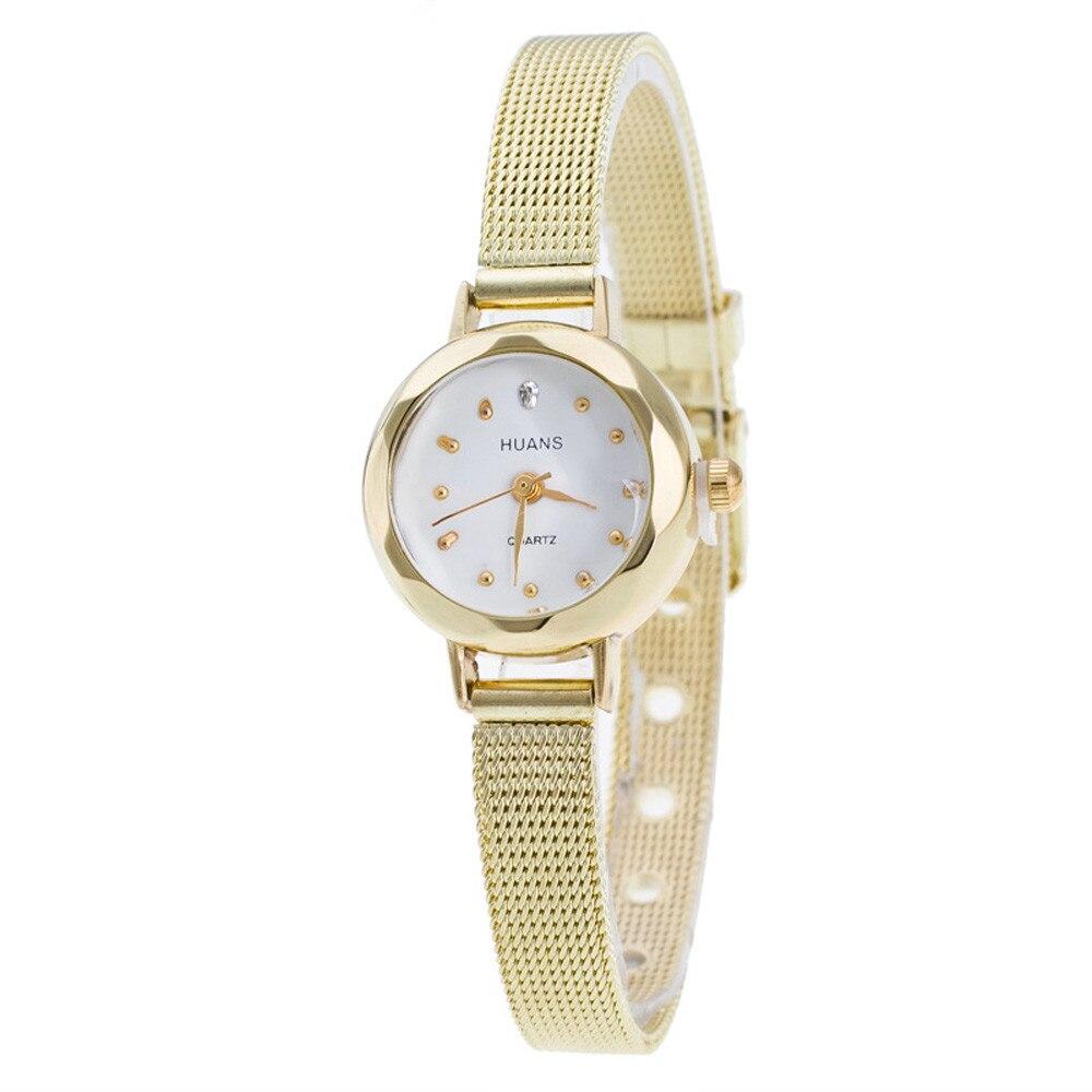 Hot Sale Women Ladies Stainless Steel Mesh Band Wrist Watch Gold/Silver Analog Quartz Wrist Watch Womens Watches montre femme  недорого