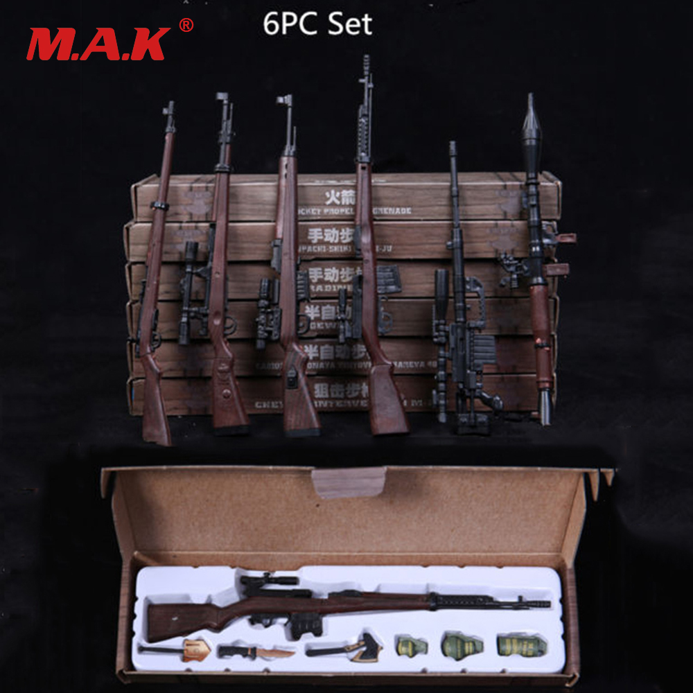 1:6 Scale Toy Gun Weapons 1/6th Assembled Rifle Models F/12 Action Figure Cosplay Guns Weapon Toys Figure 1 6 scale plastics united states assault rifle gun m16a1 military action figure soldier toys parts accessory