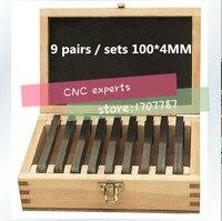 100x4mm 9 pares de precisão conjunto paralelo  paralelismo: 0.005mm  paralelo bock conjunto