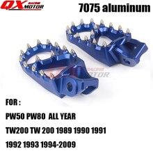 Blue 7075 Foot Pegs Footpegs Rests Pedals For YZ 85 125 250 YZ250F YZ426F YZ450F YZ125X YZ250X YZ250FX WR250F