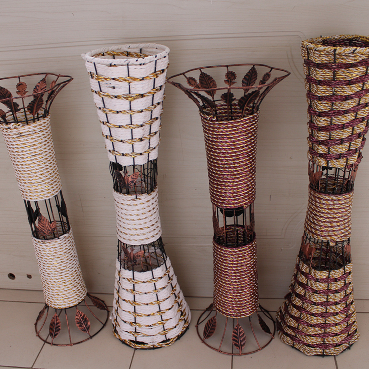 Bamboo Handmade Rustic Rattan Countertop Desktop Dried