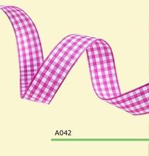 1 Inch 25mm tartan plaid ribbon