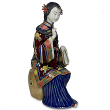 Collectibles Traditional Chinese Female Statues Antique Glazed Porcelain Figurine Christmas Ceramic laddy Figure Free Shipping