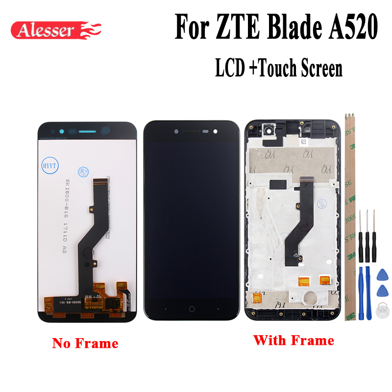 Alesser For ZTE Blade A520 LCD Display and Touch Screen With Frame Assembly Repair Parts 5 Inch  Accessories+Tools +AdhesiveAlesser For ZTE Blade A520 LCD Display and Touch Screen With Frame Assembly Repair Parts 5 Inch  Accessories+Tools +Adhesive