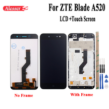 Alesser For ZTE Blade A520 LCD Display and Touch Screen With Frame Assembly Repair Parts 5 Inch  Accessories+Tools +Adhesive