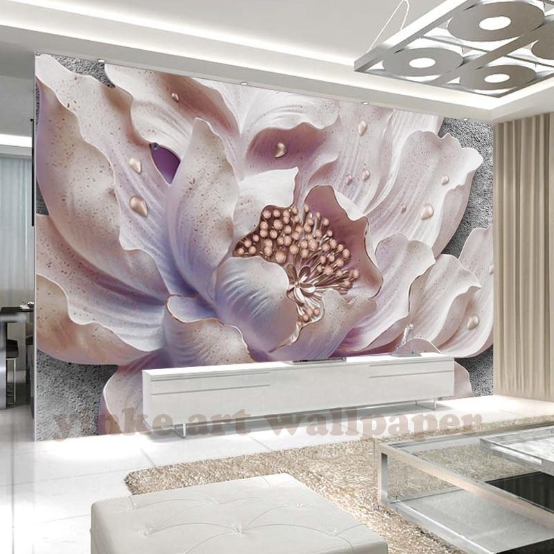 Custom Mural Wallpaper 3d Stereoscopic Relief Pearl: Custom Photo Wallpaper Murals European Style 3D