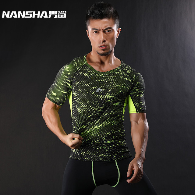 NANSHA 2017 Base Layer Camouflage T Shirt Fitness Tights Quick Dry Shirts Tops & Tees Crossfit Compression Shirt Brand Clothing