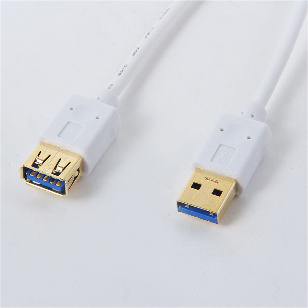 Gilded Super High Speed USB 3.0 M/F Male To Female Cable Extension M-F For Hub/keyboard/Mouse/headset White