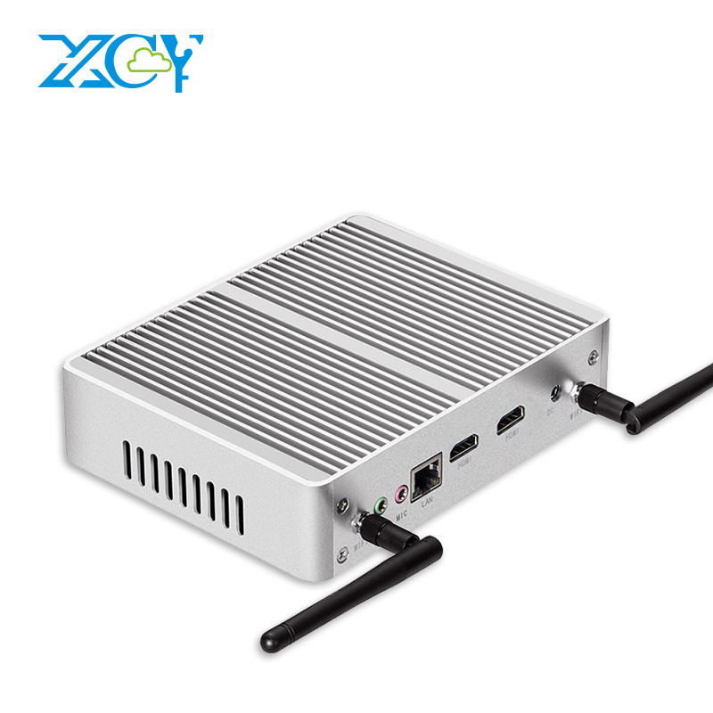 XCY Quad-cores Celeron J1900 Mini PC Dual HDMI Barebone 6USB WIFI Mini Computer Desktop HTPC TV BOX Windows10 Fanless PC xcy mini pc j1900 dual lan industrial computer celeron quad core 2 0ghz fanless business computer with 4 usb port 2 rs232