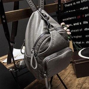 Image 4 - DDWB003 Brand Leather Schoolbag Female Backpacks Women Preppy Style High Quality Sweet Ladies Knapsack Beautiful Girl Backpack