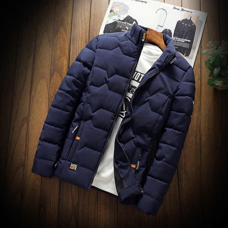冬厚手 2019 ファッションスタンド襟男性パーカージャケット固体厚く暖かいスリム防風ジャケットカジュアル生き抜く M-4XL