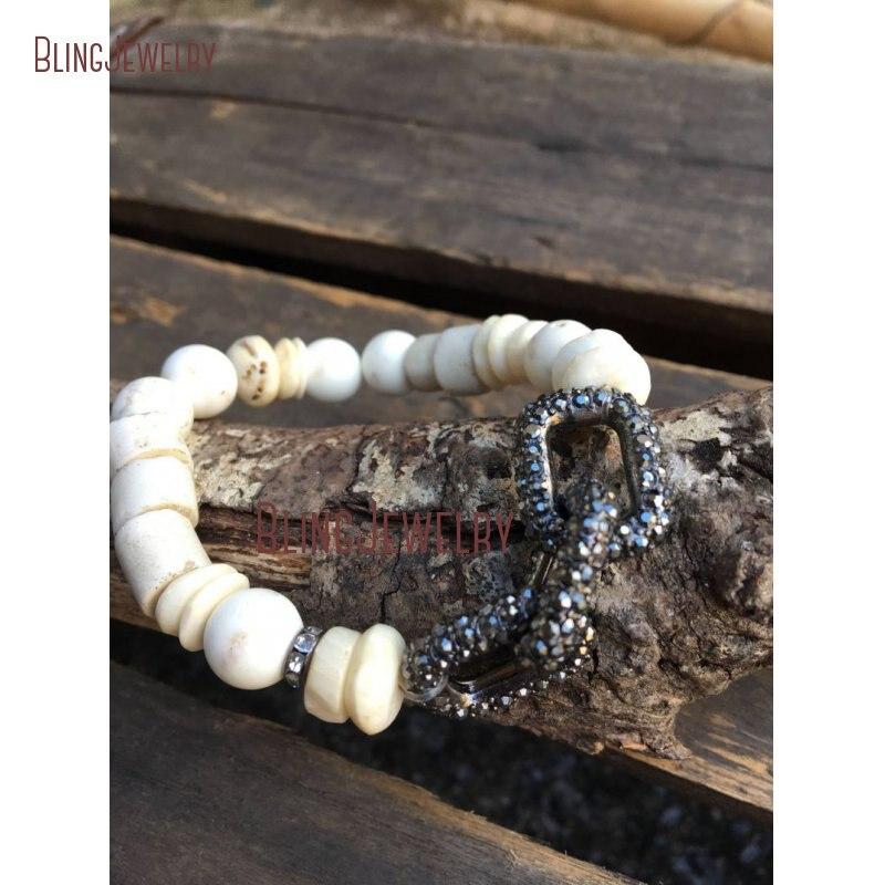 Австралийский нефритовый хризопраз белый бирюзовый драгоценные камни золотой браслет из бисера BM26467