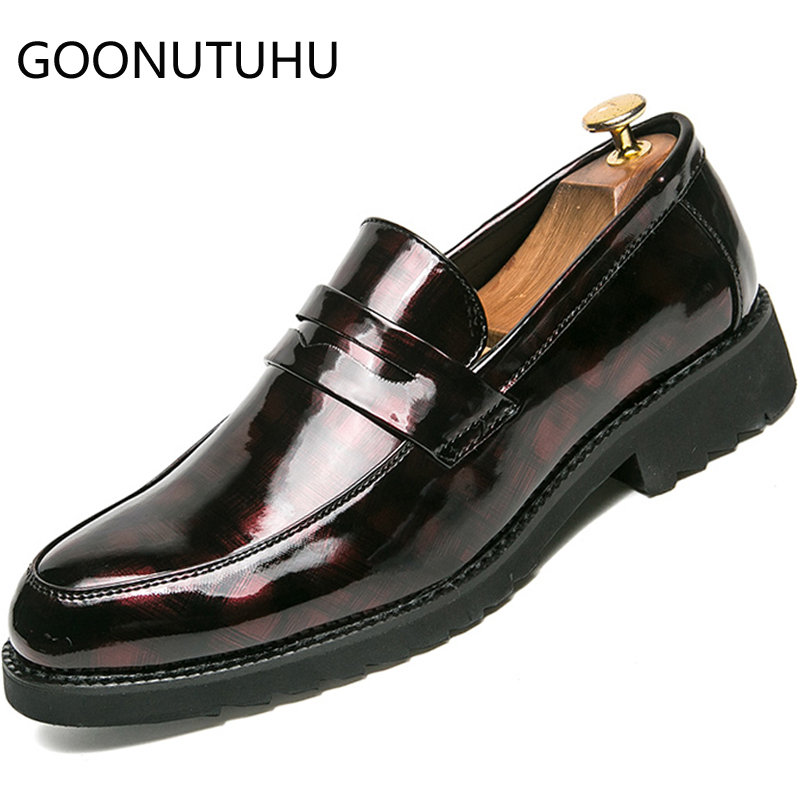 2019 new fashion men 39 s shoes casual leather loafers manclassic red or black slip on shoe male comfortable shoes for men hot sale in Men 39 s Casual Shoes from Shoes